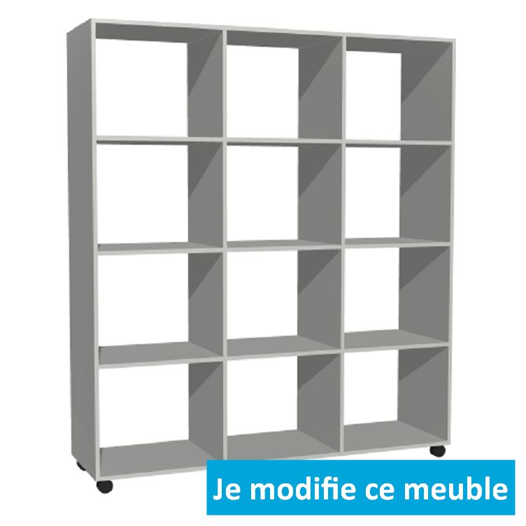 Etagere garage bois blanc casier