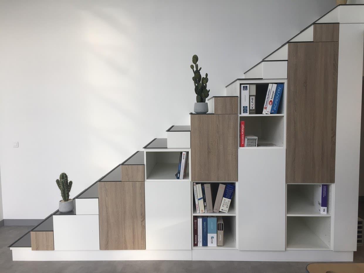 Meuble escalier en mélaminé sur mesure à configurer