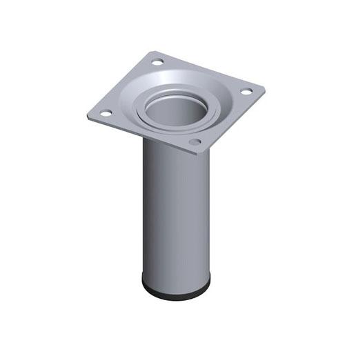 Pied de meuble rond metallique 2