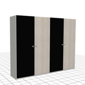 Large armoire sur-mesure à portes battantes