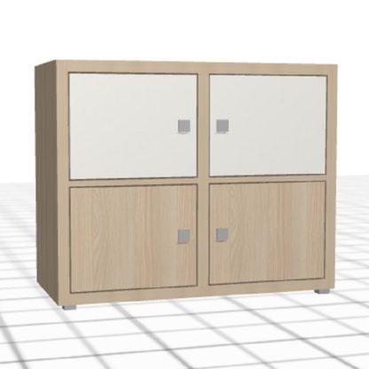 Meuble bas sur-mesure 1 mètre chêne blanc portes