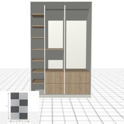 Armoire personnalisée à portes coulissantes