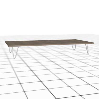 Table basse personnalisée 25 centimètres chêne blanc