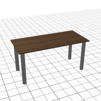 Table adaptée en chêne et acier