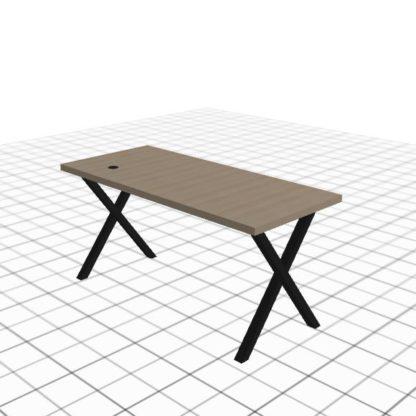 Table de bureau adaptée avec passe câble droit