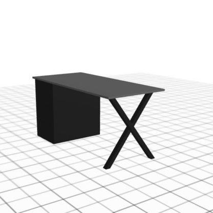 Bureau adapté avec caisson droit