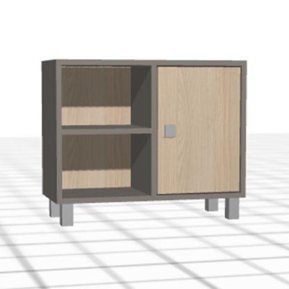 Table de chevet personnalisée large bois porte