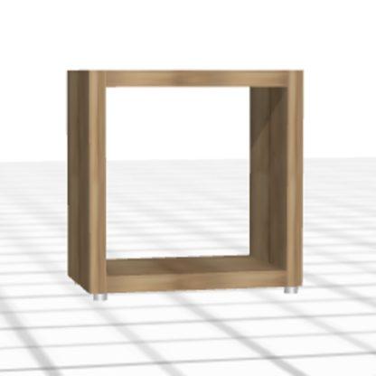 Table de chevet sur-mesure cube bois chêne