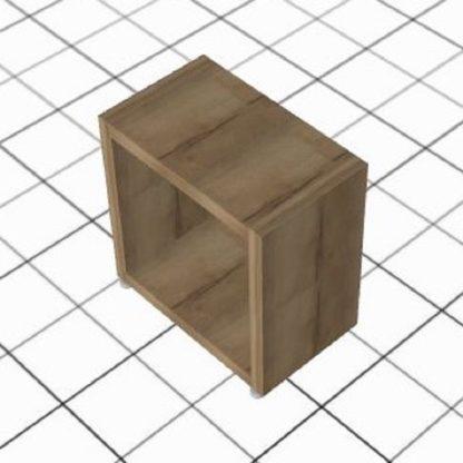 Table de chevet adaptée cube bois chêne