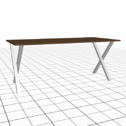 Table rectangulaire sur-mesure chêne blanc