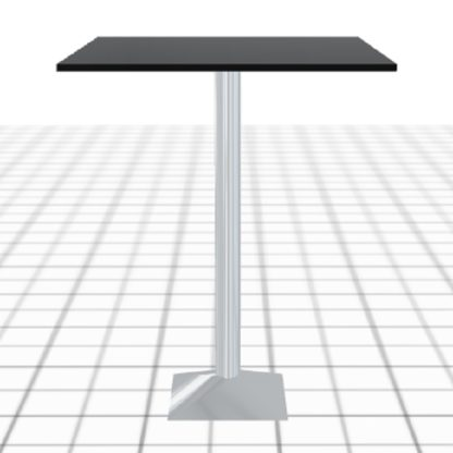 Mange-debout sur-mesure noir avec pied acier carré