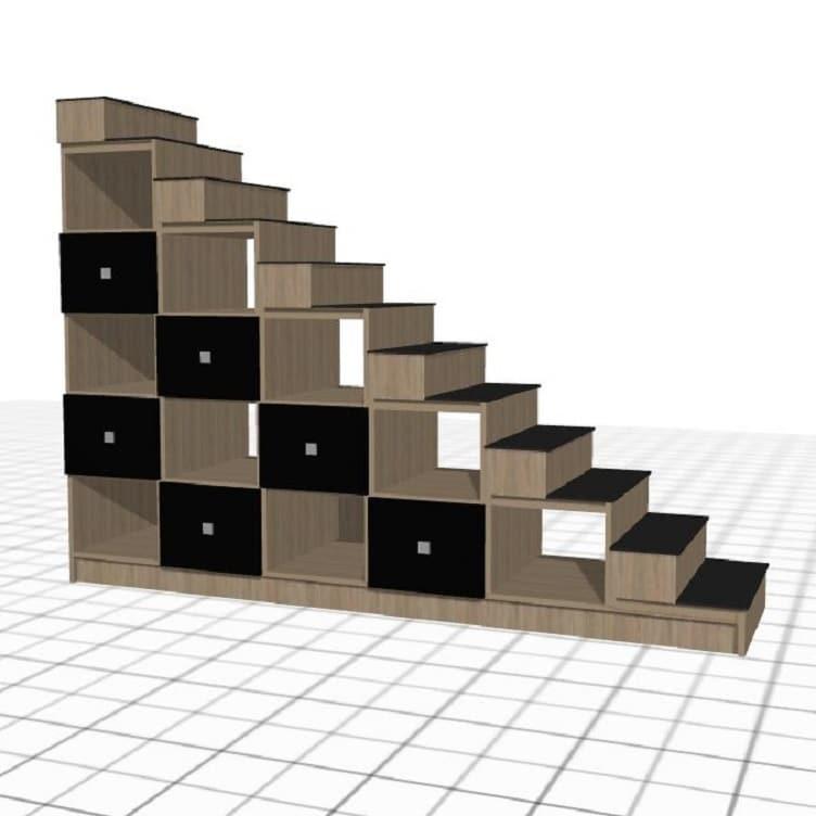 meuble-escalier-sur-mesure-noir-bois1