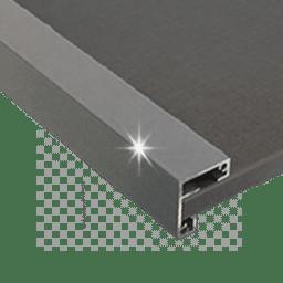 Profil alu gris aluminium