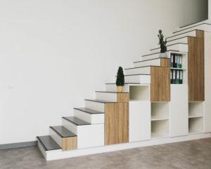 Aménagement meuble escalier sur mesure