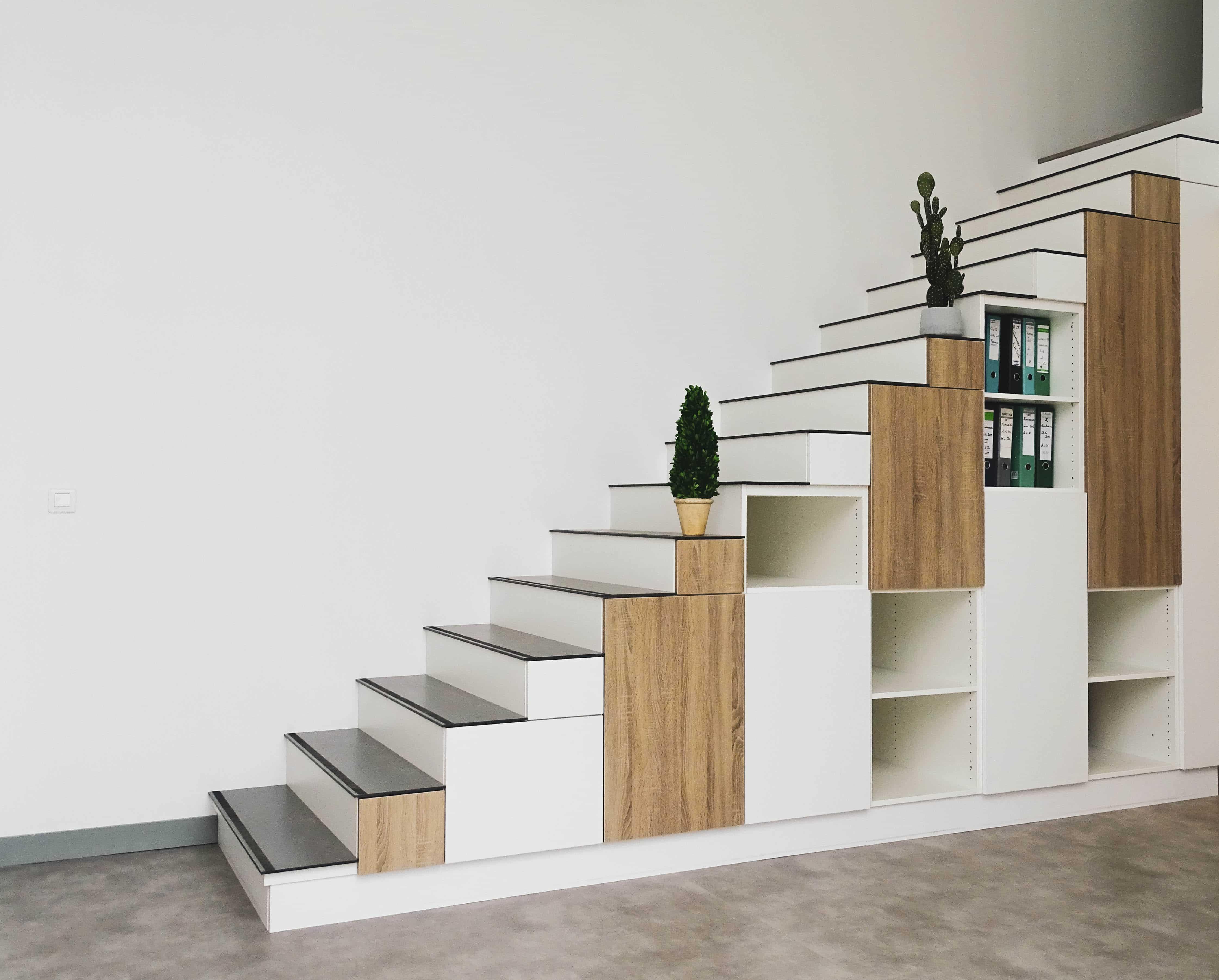 Meuble En Escalier A Concevoir Facilement Et Sur Mesure