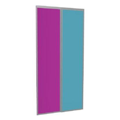 Portes coulissantes personnalisées rose bleu laqué haute