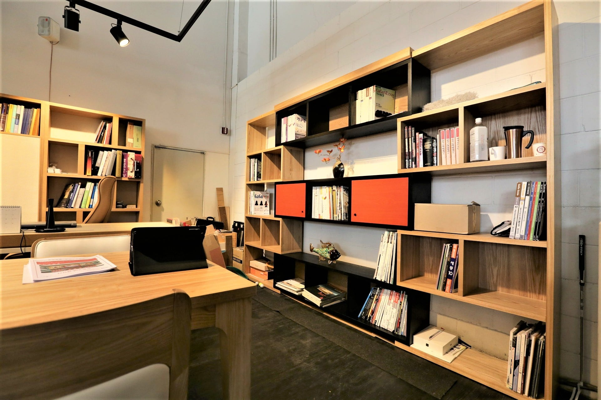 mueble de tv de estantería
