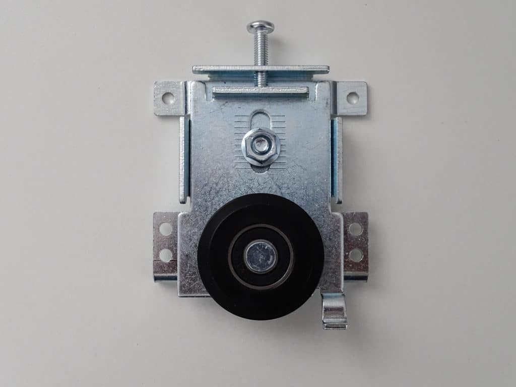 Roulette anti-dégondage pour portes coulissantes seules (partie basse)