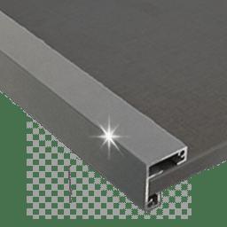 Profil gris aluminium