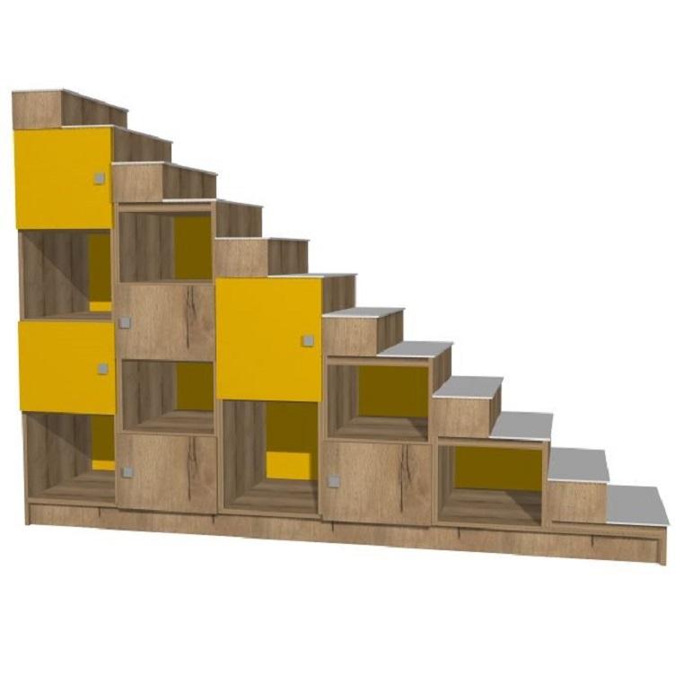 Meuble escalier rangements